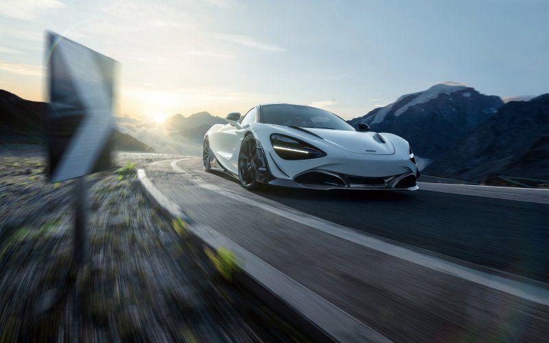 On Road White Sports Car Mclaren 720s Wallpaper Best Luxury