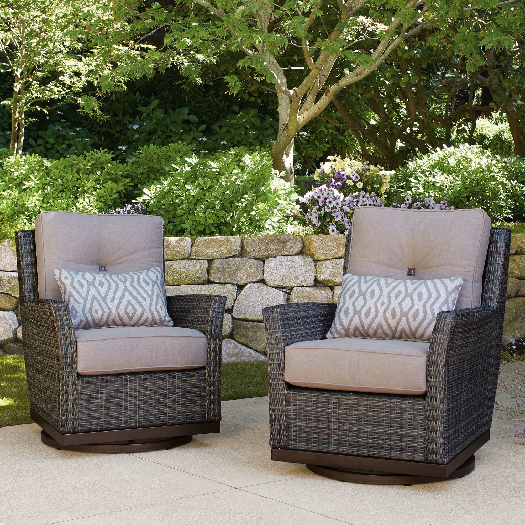 St Louis 2 Pack Swivel Glider Chairs 5 Out Of 5 Stars Read