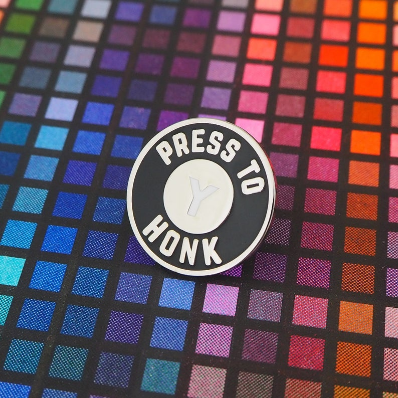 Press Y To Honk Enamel Pin Untitled Goose Game Lapel Pin