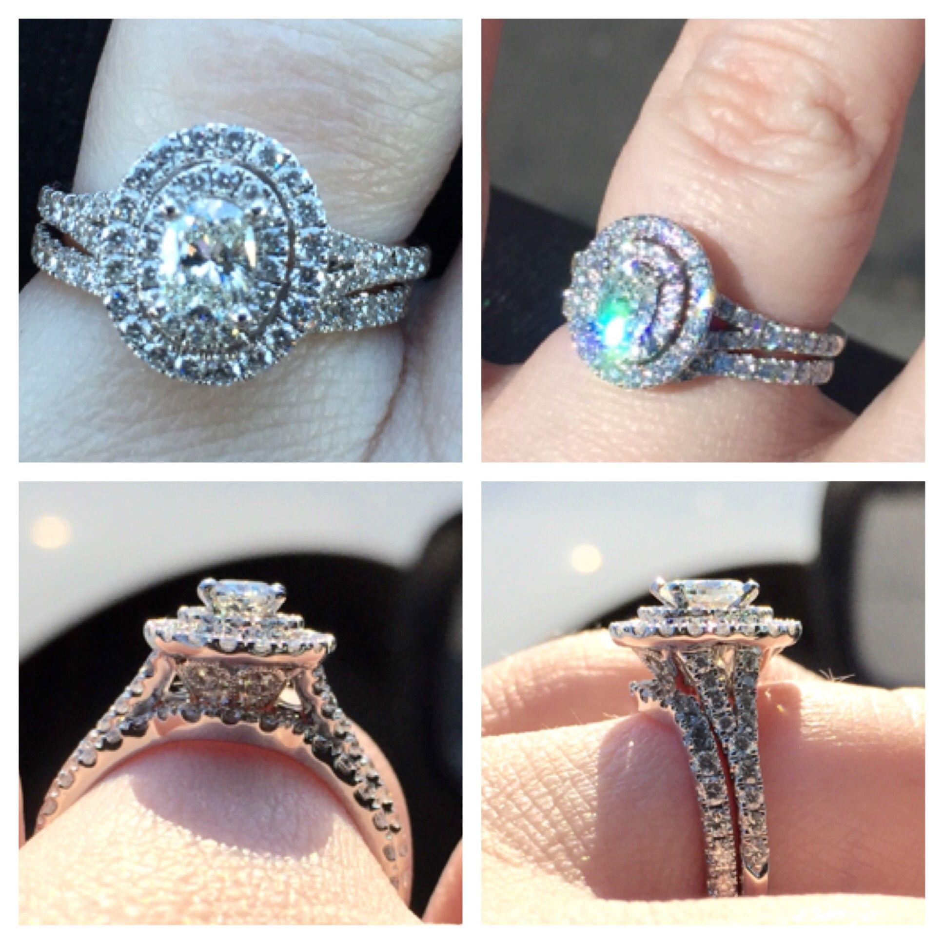 Show Me Your Oval Halo 039 S 8211 Moissy Amp Diamond Weddin Neil Lane Engagement Rings Engagement Rings Wedding Bands Set Engagement Wedding Ring Sets