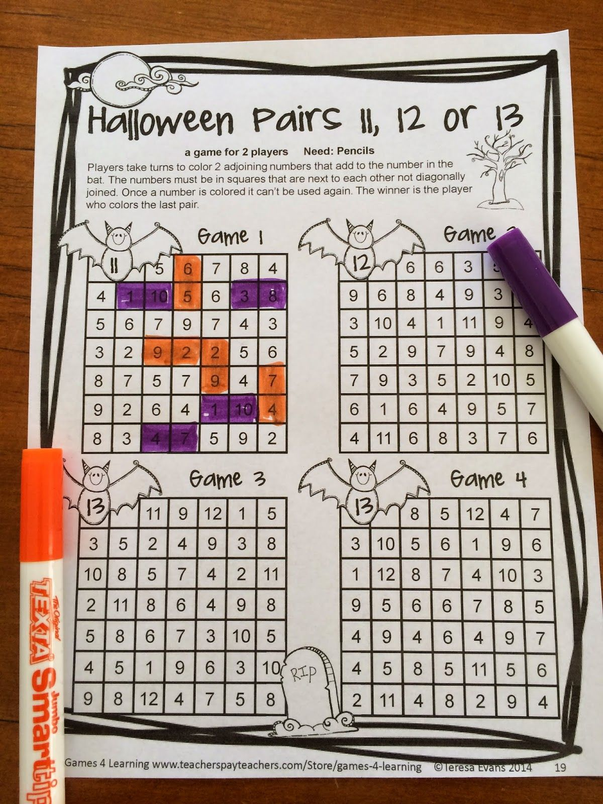 Halloween Math Games 2nd Grade Halloween Activities With