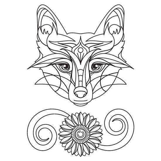 Zorro Floral Con Imagenes Mandalas Animales Animales Para