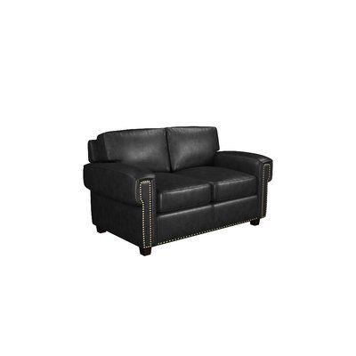 Westland And Birch Sioux Genuine Leather 63 Square Arm Sofa Bed Leather Sofa Bed Leather Loveseat Leather Sofa
