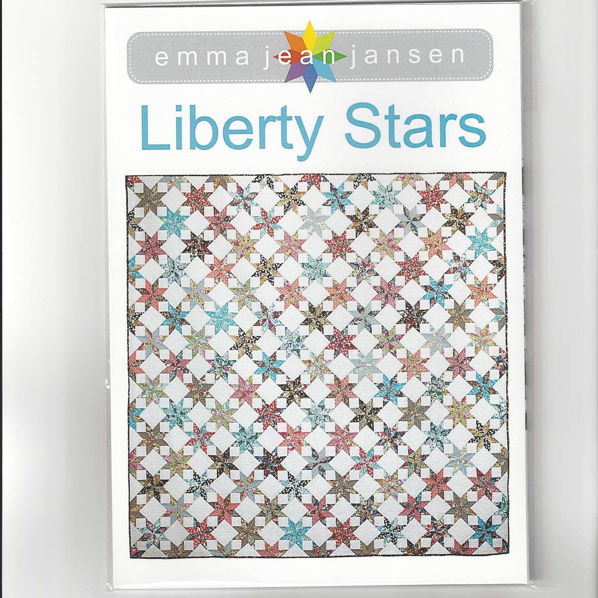 LIBERTY STARS QUILT PATTERN & TEMPLATE - by Australian Designer Emma ...