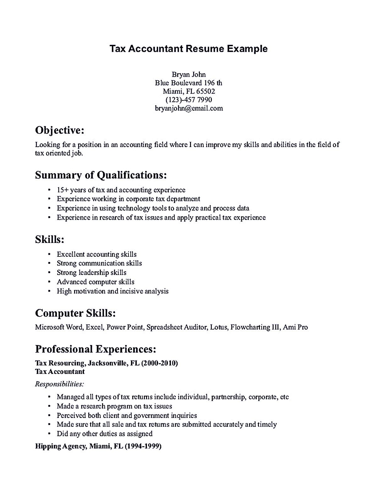 Writing accountant resume sample is not that complicated as ...