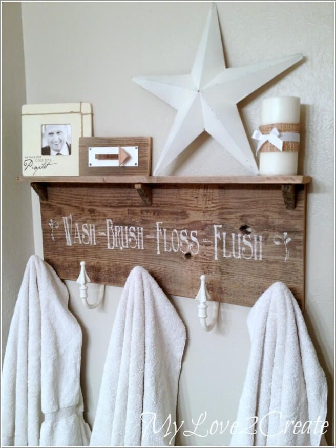 15 Cool Diy Towel Holder Ideas For Your Bathroom Small Bathroom Decor Diy Towels Towel Holder Diy