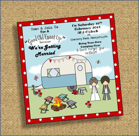 Food Truck Wedding Ideas: Trailer / Caravan Wedding Invitation