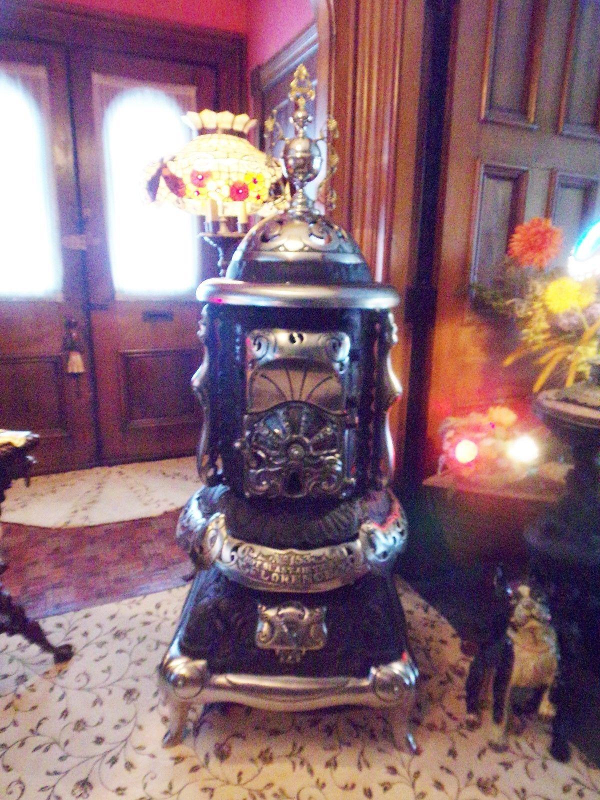Antq 1899 Wood Burn Quot Florence Hot Blast Quot No 153 Parlor