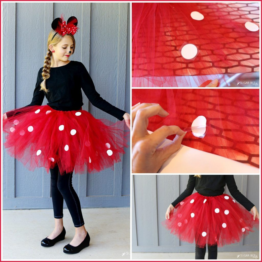 diy minnie mouse costume yep no sew tulle tutu heat transfer vinyl and heat transfer. Black Bedroom Furniture Sets. Home Design Ideas