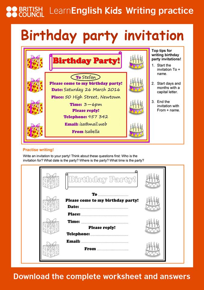 birthday party invitation invitation