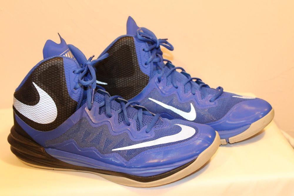 cheap for discount 50c7a 387c8 Nike Men Sz 11 Prime Hype DF II Basketball Shoes Blue Black Silver 806941  401 EC