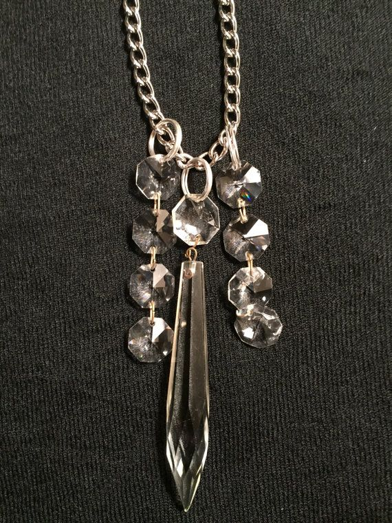 Vintage Chandelier Crystal Necklace by JanetsVintageTouch on Etsy ...