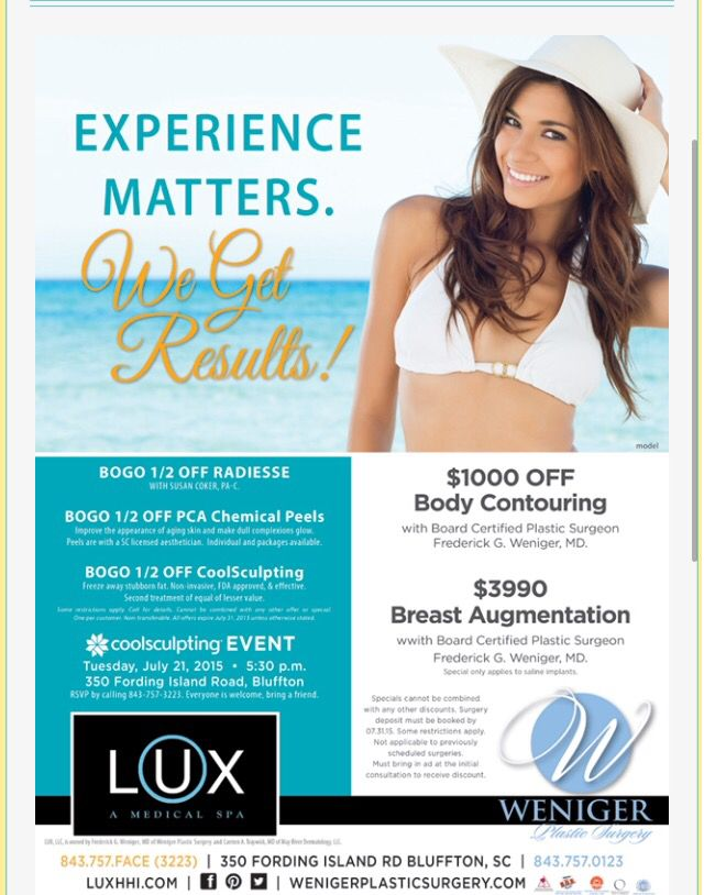 Lux A Medical Spa July 2015 Specials Spa Specials Aesthetic Clinic Medical Spa