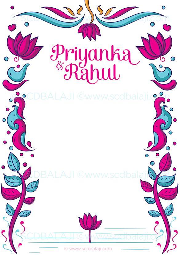 punjabi wedding invitation envelope cover designed by www scdbalaji