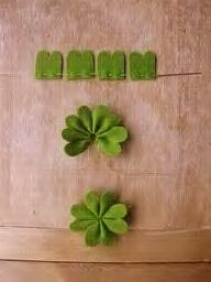 Four Leaf Clover-Every kid on our baseball team will be lucky this St.Patty's Day! I just finished making these and they are adorable.....Attaching to hats with gold safety pin!