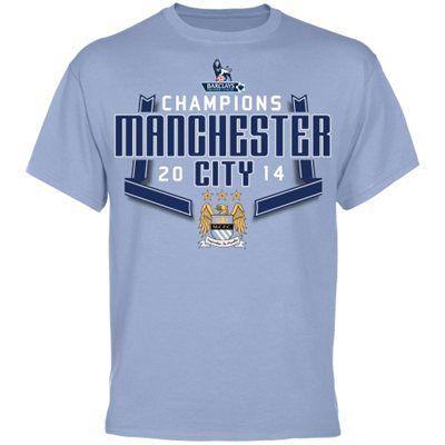 Manchester City FC 2014 Premier League Champions T-Shirt - Blue