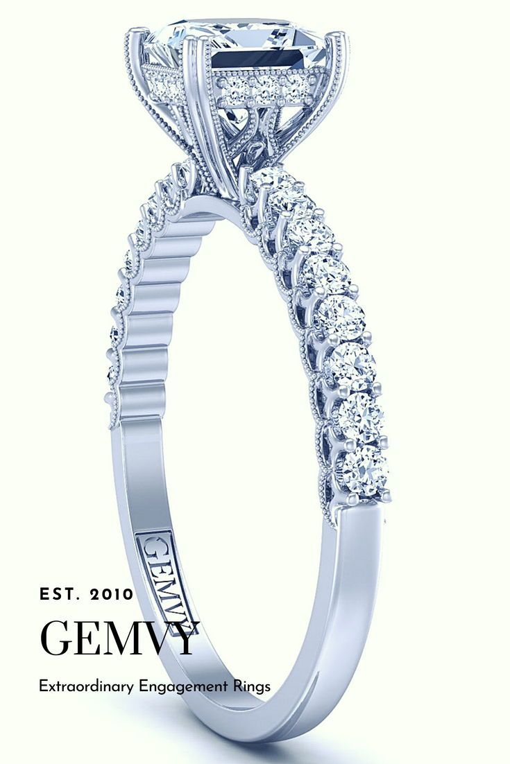 Princess pave diamond engagement ring engagement rings in