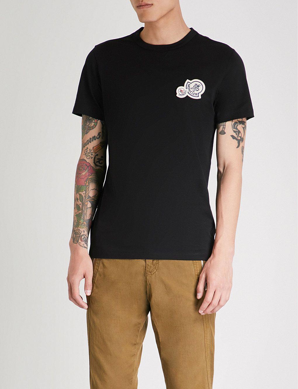 468704652 MONCLER Big Chest logo cotton-jersey T-shirt | TSHIRTS | Shirts, T ...