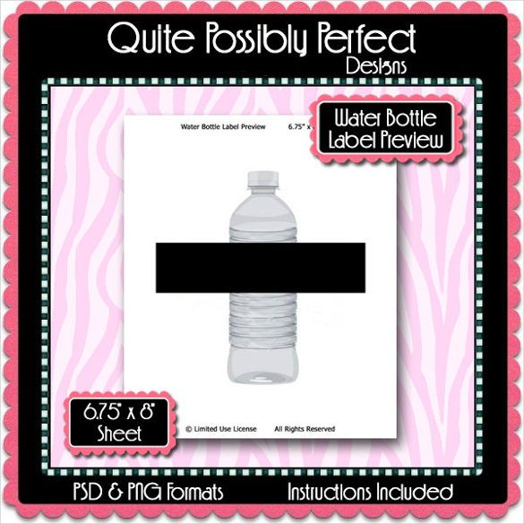 Water Bottle Label Template   Free Psd Eps Ai Illustrator