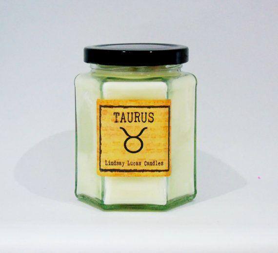 Taurus Candle Zodiac Candle Gift For Taurus by LindsayLucasCandles