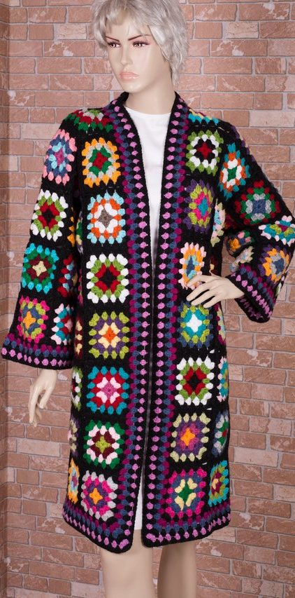 60+ Granny Square Crochet Cardigan Pattern Ideas for Summer or Winter - Page 55 of 59 - lasdiest.com Daily Women Blog!