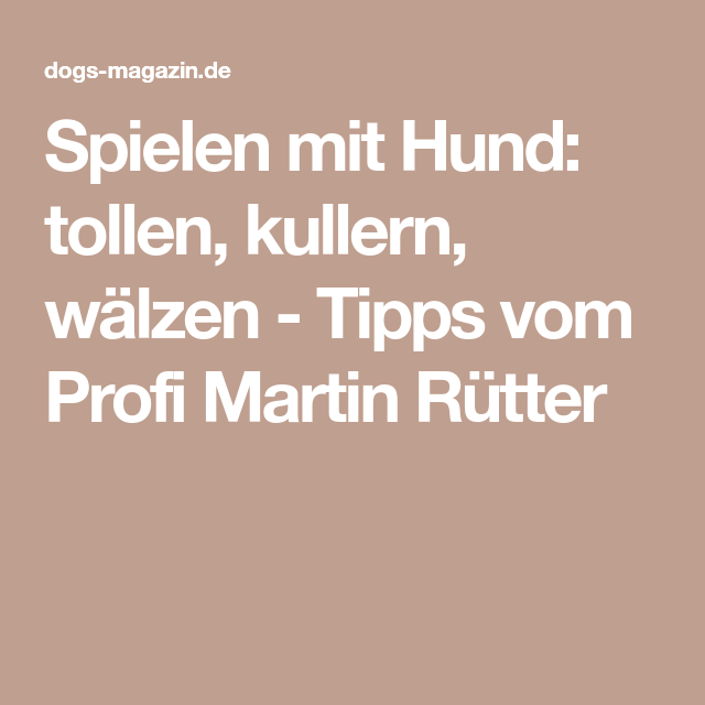 Martin Rütter Dackel