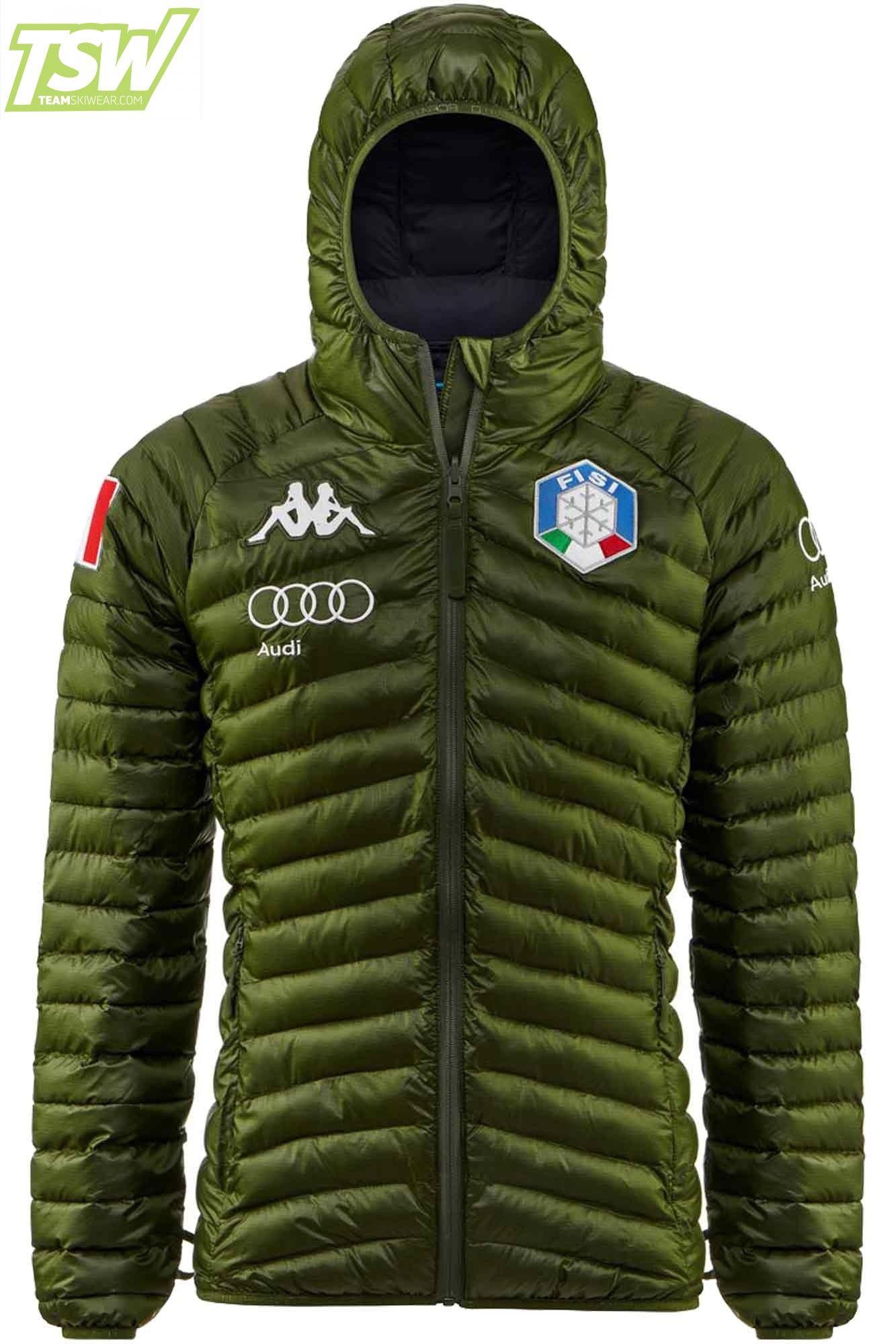Kappa Men Italia FISI Team Insulator Jacket Green Blue