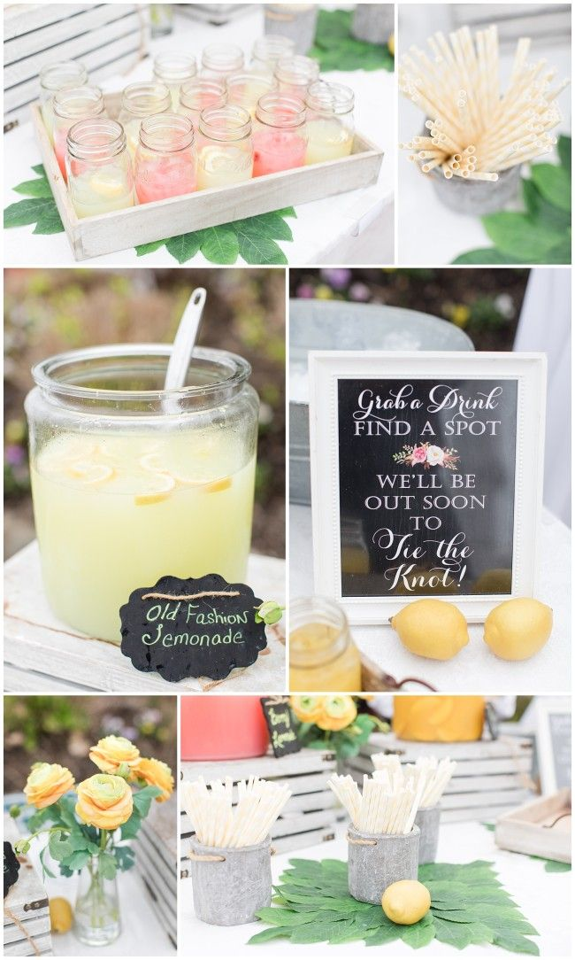 Lemonade stand for wedding guests at Mallard Island Yacht Club NJ