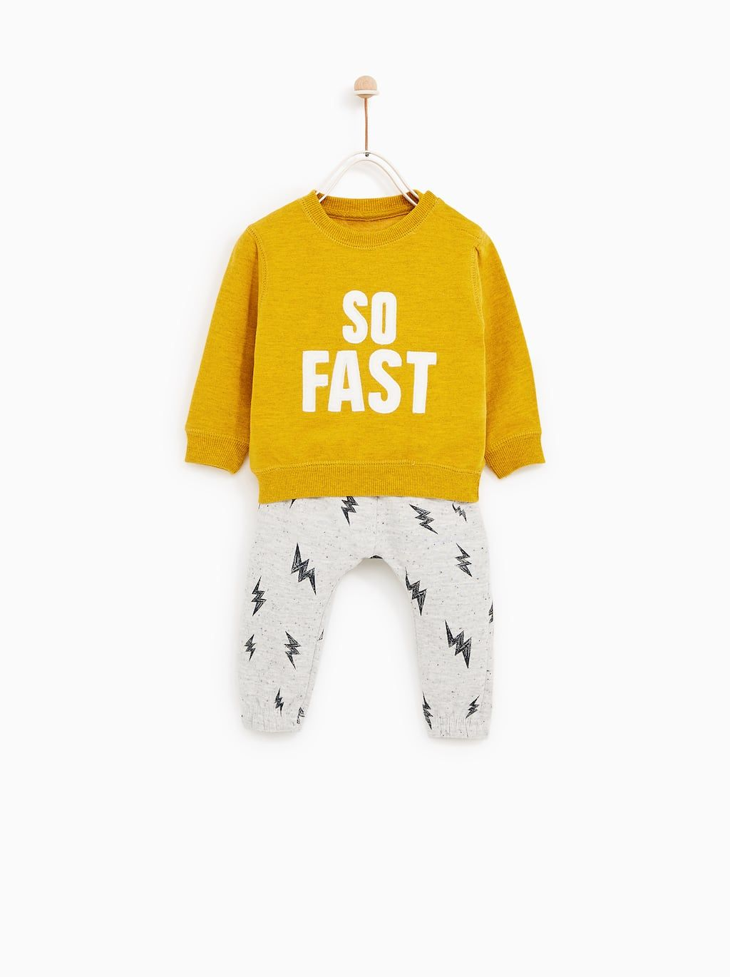 86761ef7b36 SO FAST' TRACKSUIT from Zara baby boy to toddler sizes | 童装颜色 ...