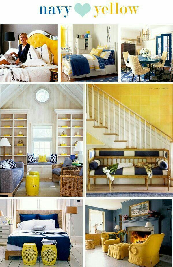 Navy And Yellow Bedroom Decor Yellow Bedroom Decor Yellow