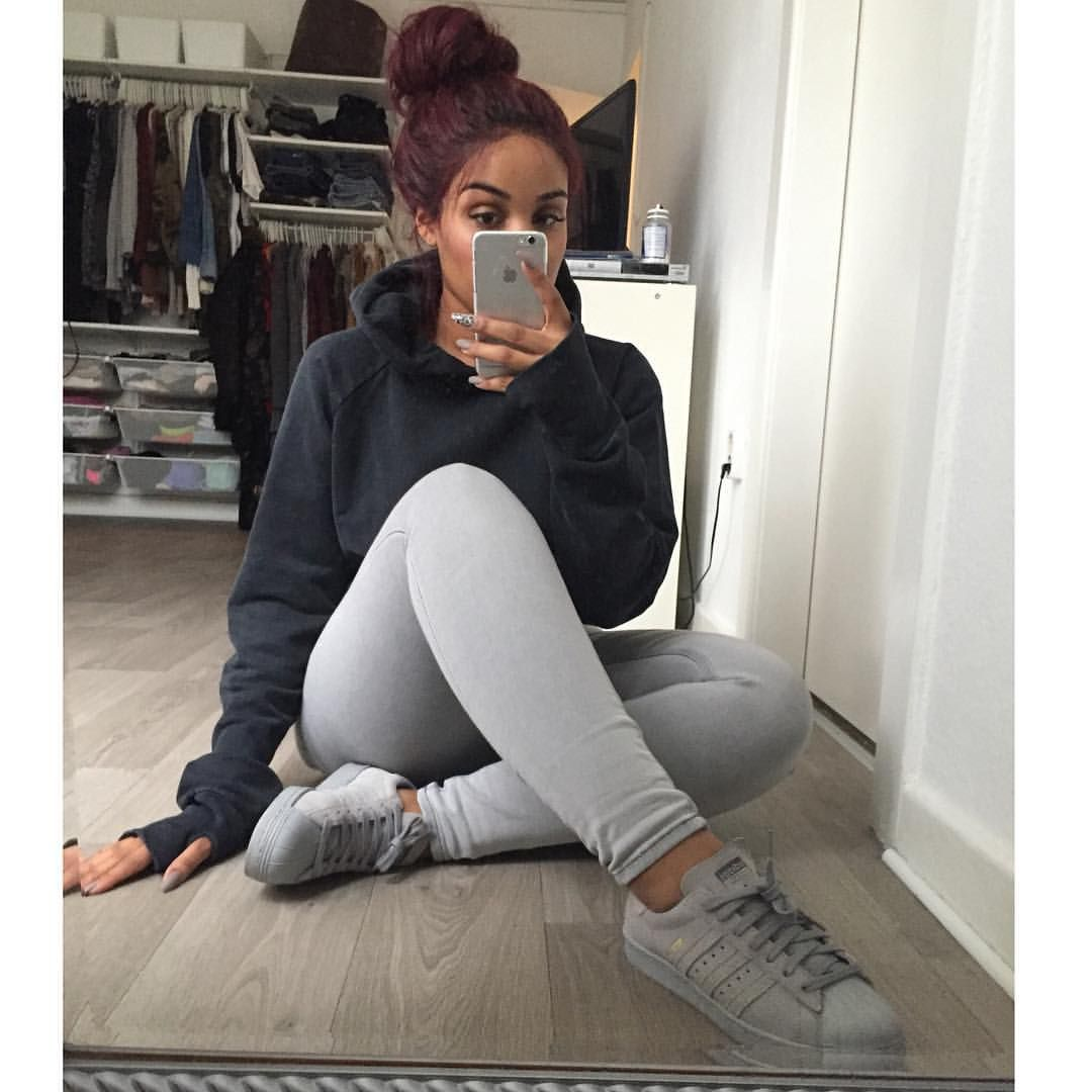 Stylish With Grey Legging Outfits | Pinterest | Fleece hoodie Grey leggings and Stylish