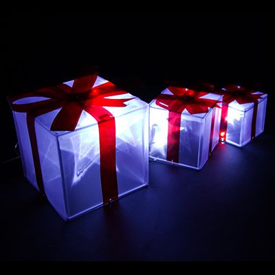 light up christmas boxes