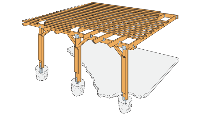 Simpson Strong Tie Diy Patio Cover Home Projects