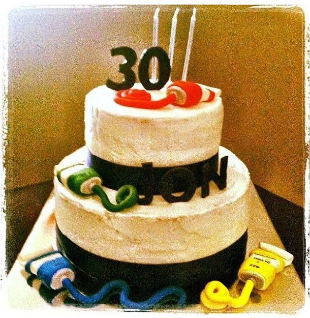 30th Birthday Artist Cake