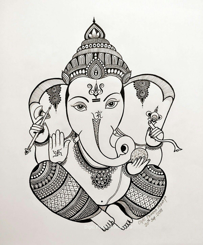 #ganesh #ganesha #drawing #art #hindu #lord # ...