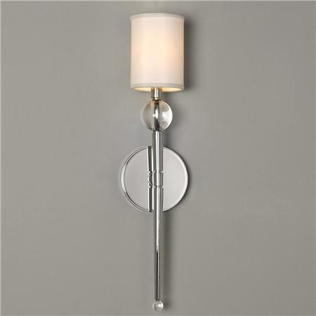 Bathroom Chandelier Sconces crystal ball and elongated torch wall sconce | crystal ball