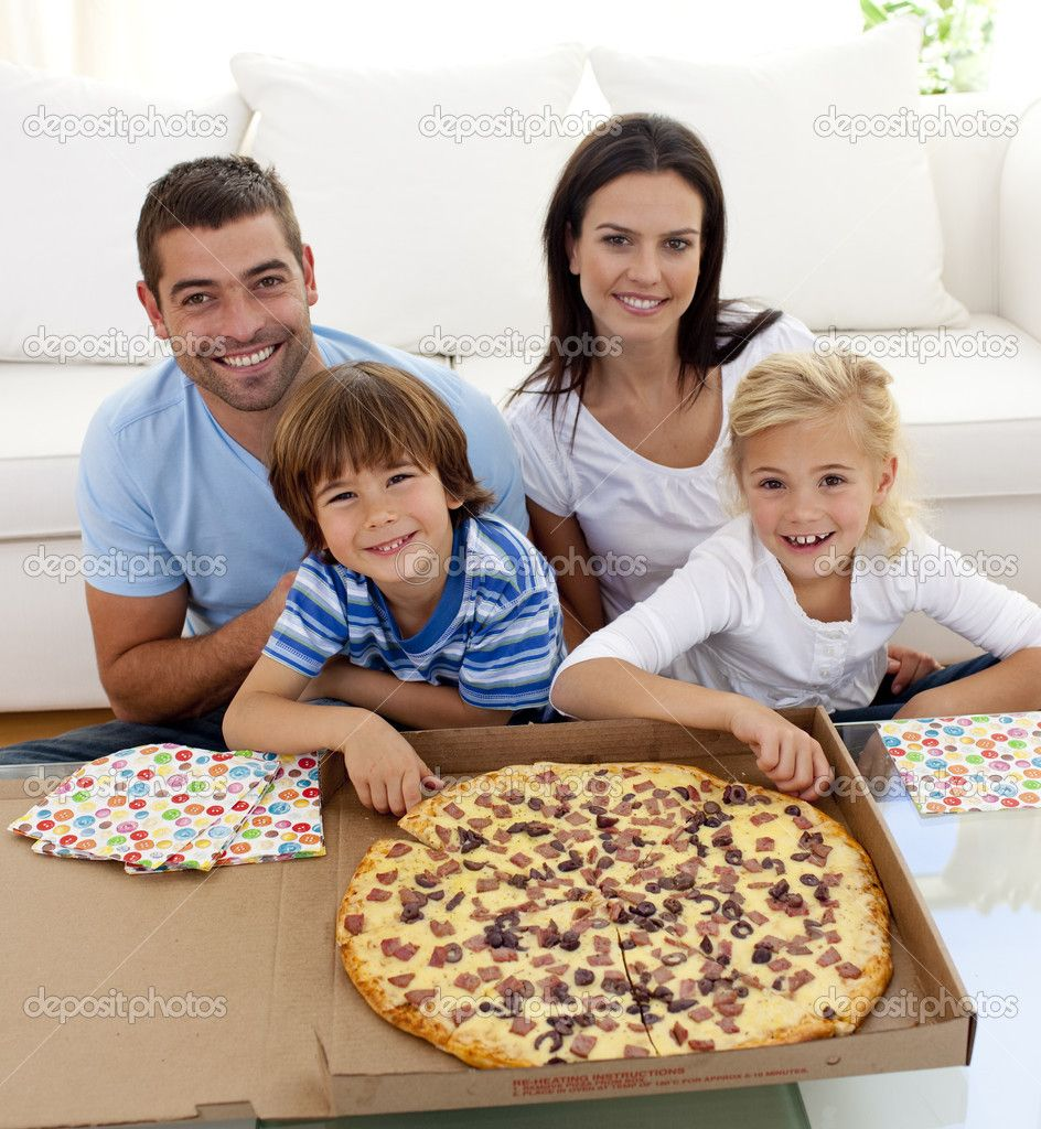 Family Eating Pizza On Sofa By Wavebreakmedia Photodune Hy All Together