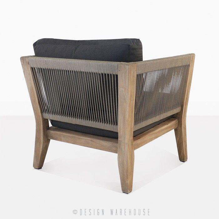 Ventura Reclaimed Teak Club Chair | Teak Lounge Chairs | Rope Chair