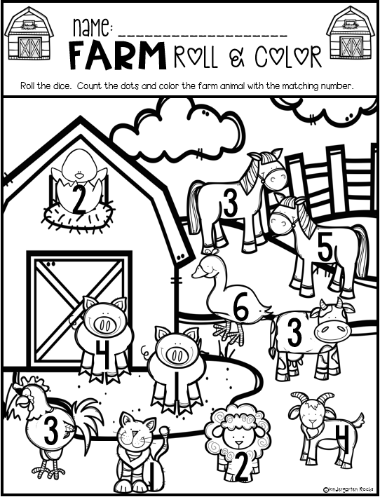 Farm Math and Literacy Worksheets for Preschool is a no