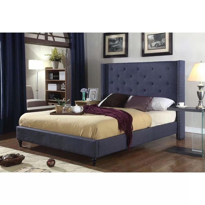 Boswell Upholstered Platform Bed Upholstered Platform Bed Bedroom Headboard Tall Headboard