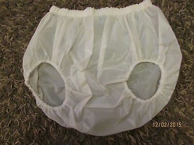 Front Facing Leg White Semi Transparent Plastic Pants For
