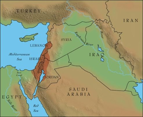 modern day israel map w canaan overlay bible old testament