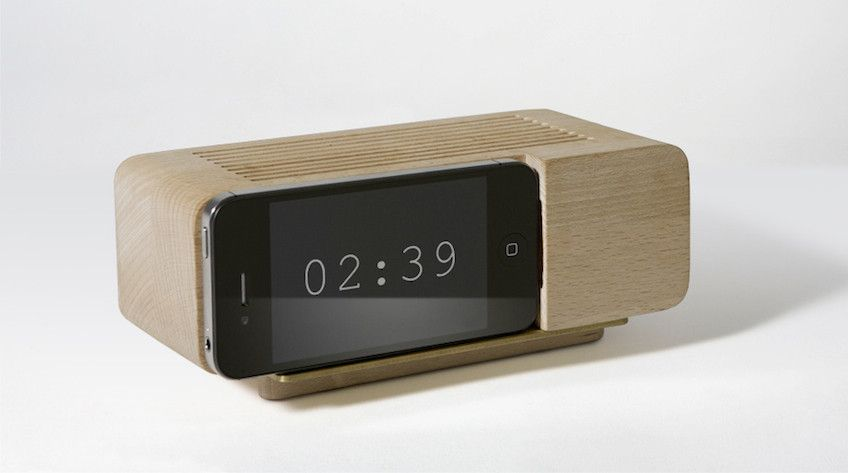 A Dock That Turns The Iphone Into An Analog Alarm Clock Alarm Clock Iphone Clock Analog Alarm Clock