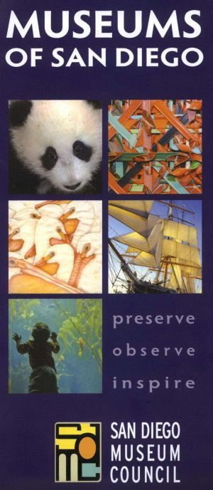 museums of sandiego california travel brochure brochures