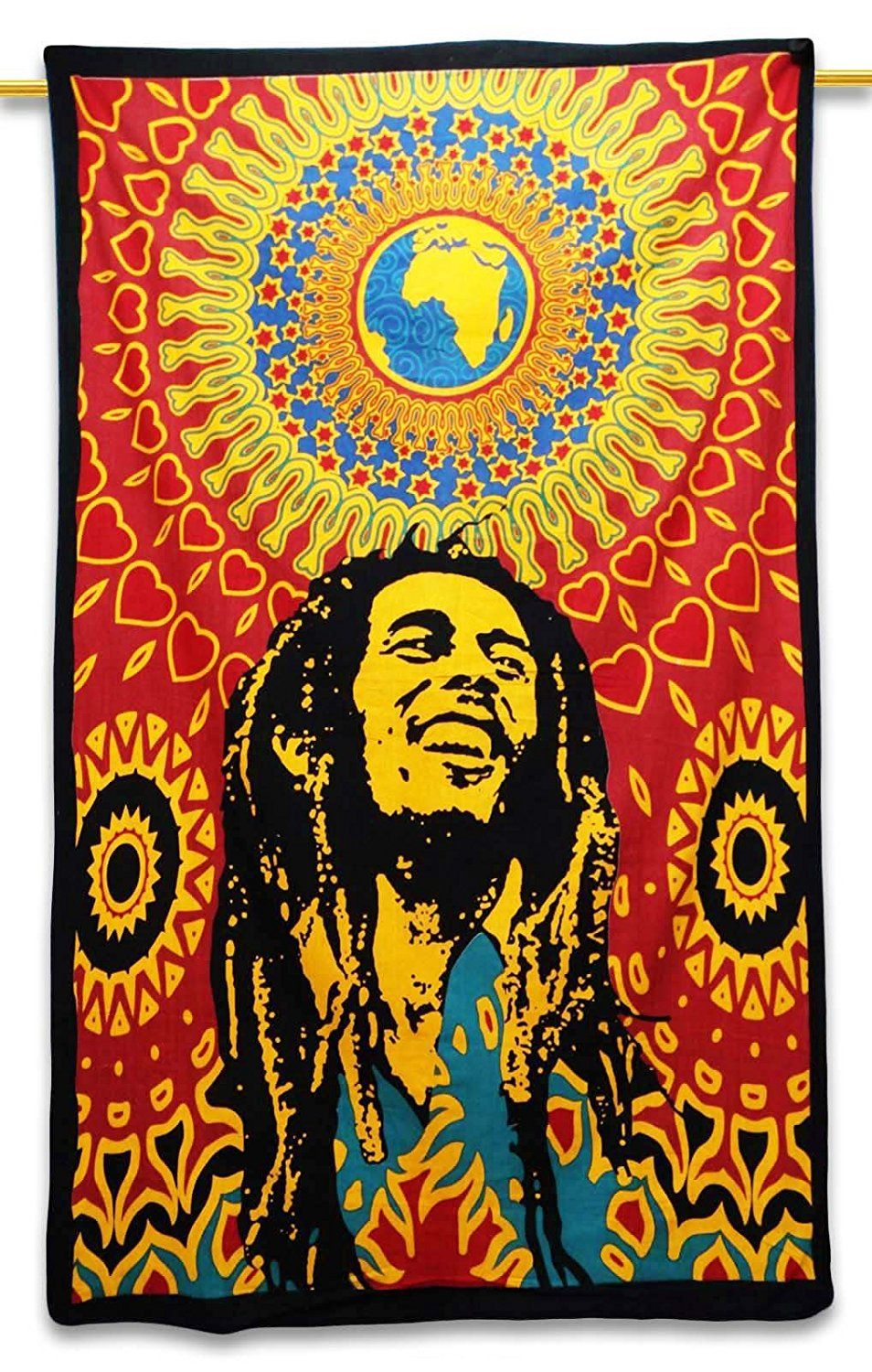 Pure Cotton Bob Marley Tapestry Cloth Table Runner Wall Décor ...
