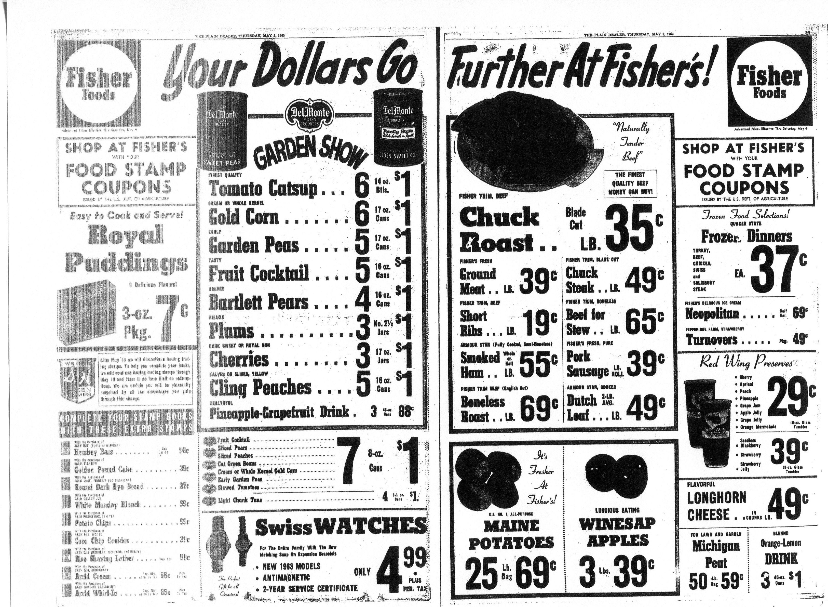 Fisher Foods ad 5/9/1963 Grocery ads, Store ads, Grocery
