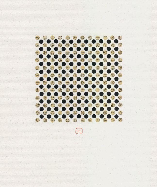 White and Black N°01 - 21 x 25 cm / Art by Slavomir Zombek