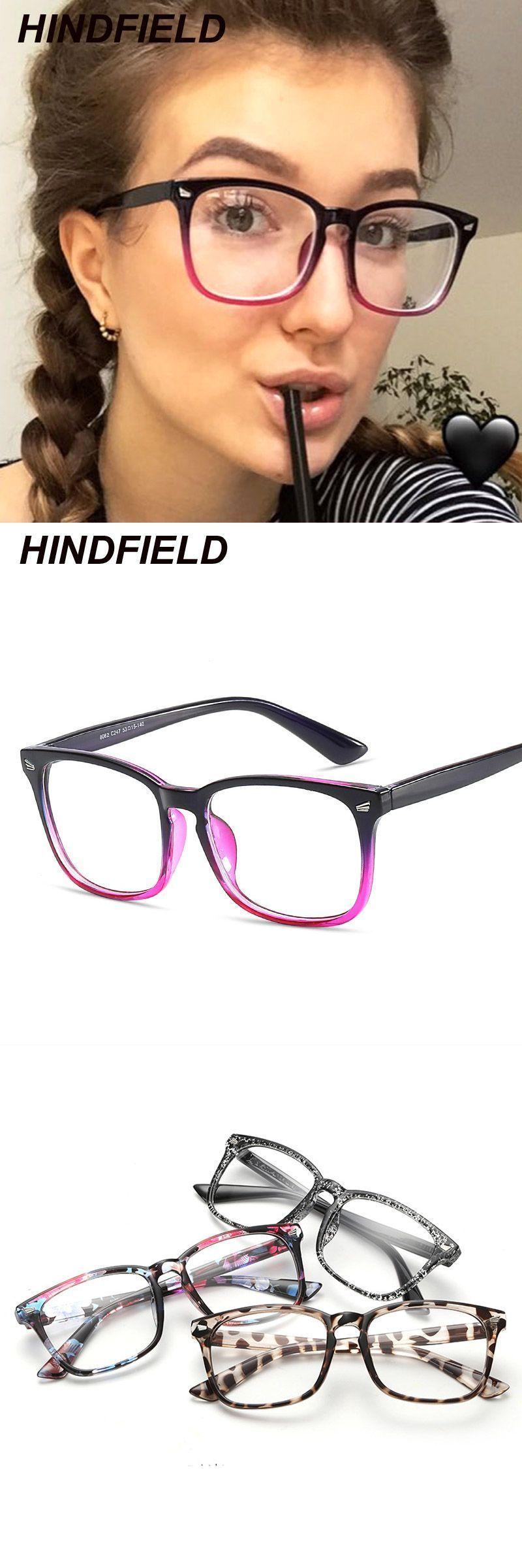 3fbfea815909 Square clear glasses women fashion transparent lens eyeglasses optical  frames computer eyewear spectacle frames fake glasses