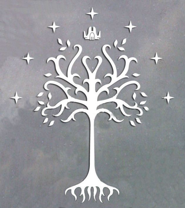 white tree of gondor family coat of arms or crest ideas