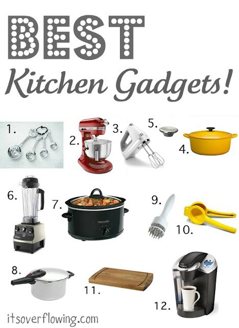 A great list of 12 of the best kitchen gadgets.  Do you have all these?
